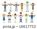 手を繋ぐ人々 若者 16617752