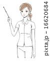 指し棒を持つ看護士イラスト 16620684