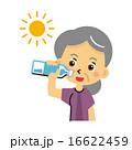 水分補給 飲む 熱中症予防のイラスト 16622459