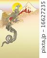 北斎 登り龍図 富士より 年賀状イメージ 16627235