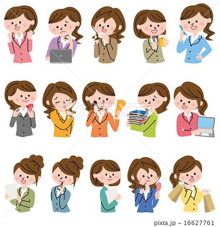 女性 ビジネス アイコン 16627761