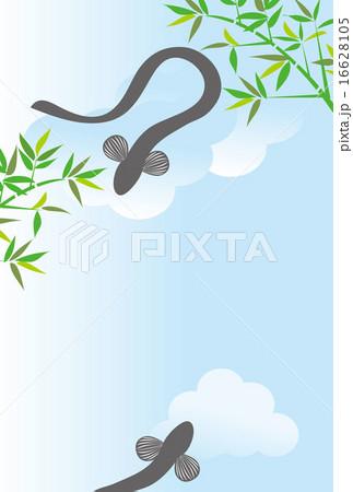 うなぎと青空のポストカード 16628105