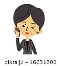 スーツ姿のミドル女性【三頭身・シリーズ】 16631200