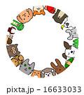 ペット 円 正面 コピースペース 16633033