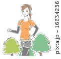 ジョギング ランニング ベクターのイラスト 16634236