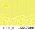 ひまわり畑 花 太陽のイラスト 16637806