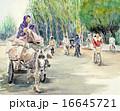 シルクロードの朝 水彩画 16645721