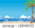 椰子の木 砂浜 海のイラスト 16646532