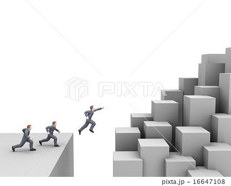 挑戦 ビジネス ジャンプのイラスト素材 16647108 Pixta