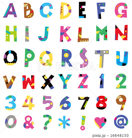 アルファベット数字のイラスト素材 16648150 Pixta