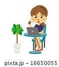 パソコンと女性【三頭身・シリーズ】 16650055