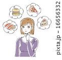 おいしそうな食べ物と女性イラスト2 16656332