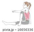 体操 フィットネス ベクターのイラスト 16656336