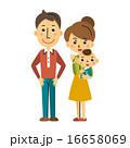 ベクター 3人家族 挿絵のイラスト 16658069