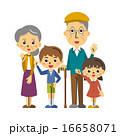 孫とおじいちゃん、おばあちゃん【三頭身・シリーズ】 16658071