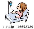 患者 治療 入院のイラスト 16658389