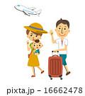 ベクター 家族旅行 キャリーケースのイラスト 16662478