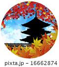 五重塔 落ち葉 紅葉のイラスト 16662874