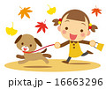 ベクター 秋 犬のイラスト 16663296