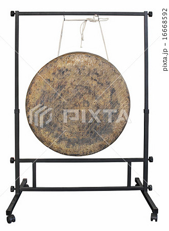 Gong isolated_mの写真素材 [16668592] - PIXTA