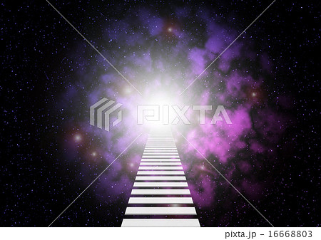 宇宙 未知 扉 はしごのイラスト...