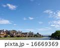 鴨川 京都 青空の写真 16669369