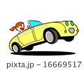 運転 ドライブ オープンカーのイラスト 16669517