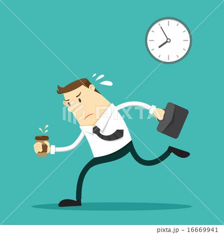 businessman going to work のイラスト素材 16669941 pixta