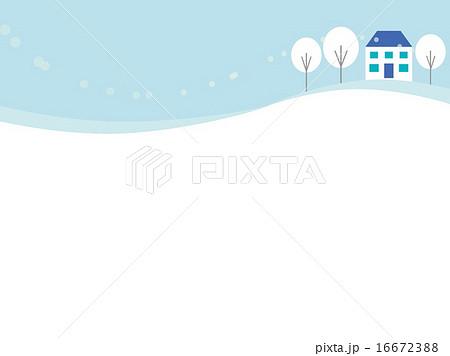 冬風景のイラスト素材 16672388 Pixta