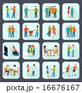 Friends Shadow Icons Set  16676167
