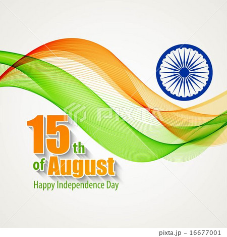 Creative Indian Independence Day concept. Vector illustrationのイラスト素材 [16677001] - PIXTA