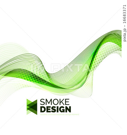 Color smoke wave isolated on whiteのイラスト素材 [16683371] - PIXTA