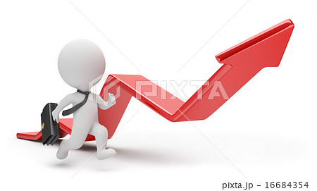 3d small people - pursuit of profit 16684354