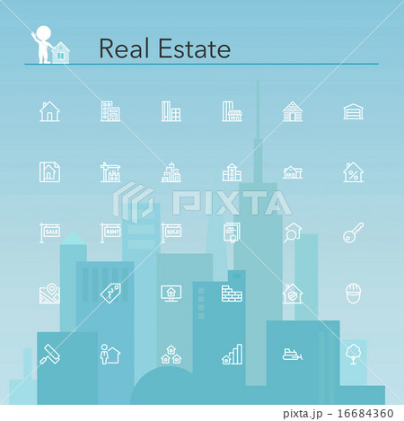 Real Estate Line Icons 16684360