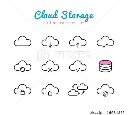 Cloud Storage icons set 16684825