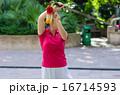 公園で剣を持って太極拳をする女性 16714593