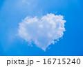 ハート型の雲(ビビッド) 16715240