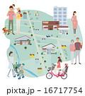 家 店舗 地図 イラスト 16717754