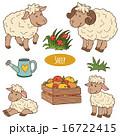 農園 農場 ひつじのイラスト 16722415