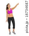エクササイズ 女性 メスの写真 16734687