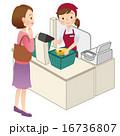 スーパーのレジ 女性 16736807