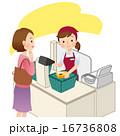 スーパーのレジ 女性 16736808