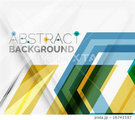 Geometric abstract background. Arrow designのイラスト素材 [16743597] - PIXTA
