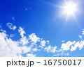 太陽 雲 青空の写真 16750017