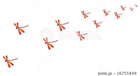 赤とんぼ 秋 背景 のイラスト素材 16755849 Pixta