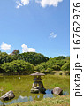 石灯篭 水辺 風景の写真 16762976
