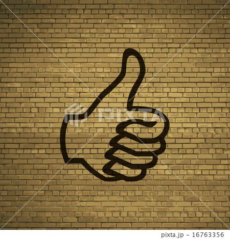Thumb up icon symbol Flat modern web design with lのイラスト素材 [16763356] - PIXTA