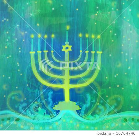 Hanukkah Greeting Card.のイラスト素材 [16764746] - PIXTA
