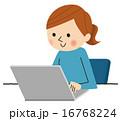 ベクター ノートパソコン メールのイラスト 16768224