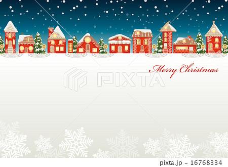 クリスマス 町並みのイラスト素材 16768334 Pixta